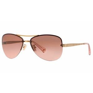 Coach Jasmine Gold Pink Crystal Sunglasses
